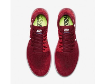Nike Free RN Flyknit 2017 Mens Shoes Team Red/University Red/Bright Crimson/Pure Platinum Style: 880843-600