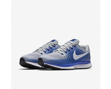 Nike Air Zoom Pegasus 34 Running (Extra-Wide) Mens Shoes Wolf Grey/Racer Blue/Deep Royal Blue/White Style: 880557-007