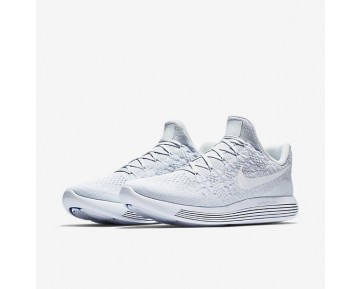 Nike Lunarepic Low Flyknit 2 Running Mens Shoes White/Pure Platinum/Wolf Grey/White Style: 863779-101