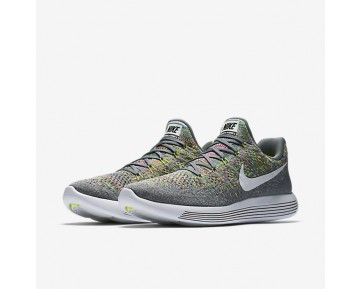 Nike Lunarepic Low Flyknit 2 Running Mens Shoes Cool Grey/Volt/Blue Glow/White Style: 863779-003