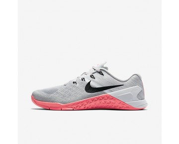 Nike Metcon 3 Womens Shoes Wolf Grey/Racer Pink/Pure Platinum/Black Style: 849807-008