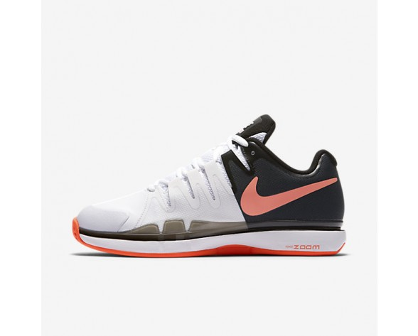 NikeCourt Zoom Vapor 9.5 Tour Clay Womens Shoes White/Black/Hyper Orange Style: 649087-100