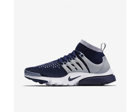 Nike Air Presto Ultra Flyknit Mens Shoes College Navy/Wolf Grey/White/College Navy Style: 835570-402
