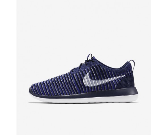Nike Roshe Two Flyknit Mens Shoes College Navy/Paramount Blue/White Style: 844833-402
