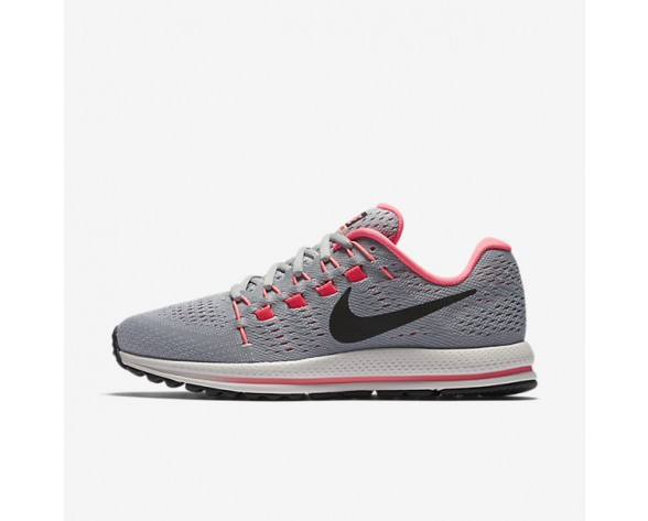 Nike Air Zoom Vomero 12 Womens Shoes Wolf Grey/Pure Platinum/Hot Punch/Black Style: 863766-002