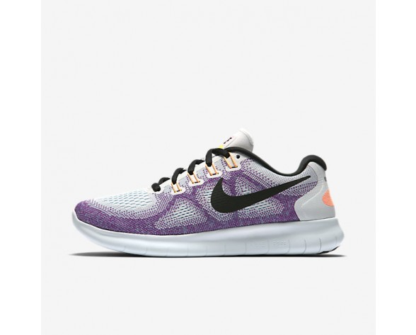 Nike Free RN 2017 Womens Shoes Off-White/Hot Punch/Chlorine Blue/Black Style: 880840-102