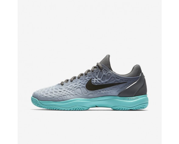Nike Zoom Cage 3 Tennis Mens Shoes Dark Grey/Aurora/Wolf Grey/Black Style: 918193-001
