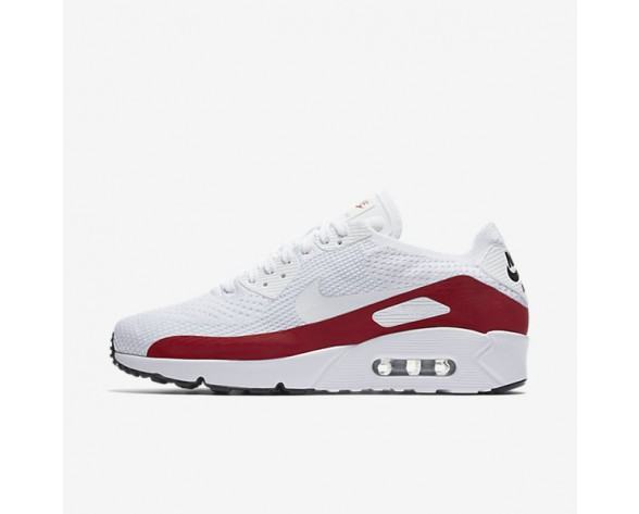 Nike Air Max 90 Ultra 2.0 Flyknit Mens Shoes White/Gym Red/Black/White Style: 875943-102