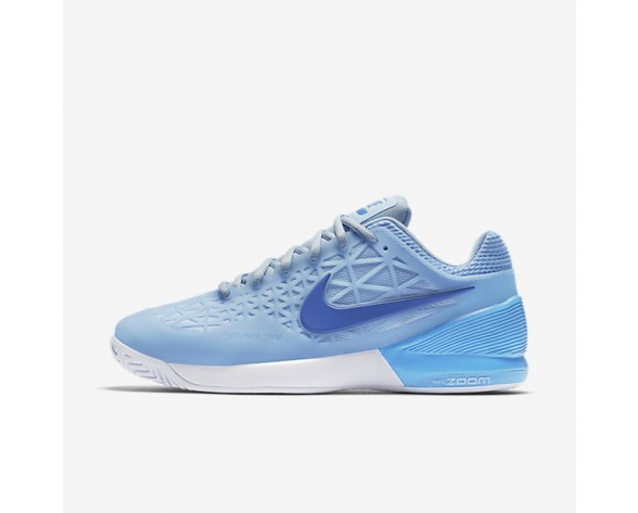 NikeCourt Zoom Cage 2 Clay Mens Shoes Ice Blue/Black/White Style: 844961-401