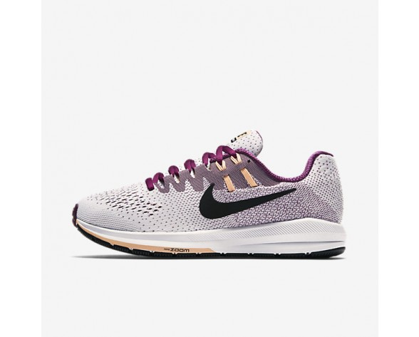 Nike Air Zoom Structure 20 Womens Shoes White/True Berry/Sunset Glow/Black Style: 849577-100