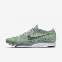 Nike Flyknit Racer Mens Shoes Ghost Green/Wolf Grey/Whip/Cool Grey Style: 526628-103