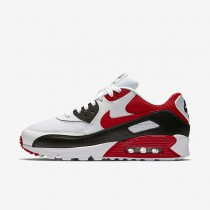 Nike Air Max 90 Essential Mens Shoes White/Black/Wolf Grey/University Red Style: 537384-129