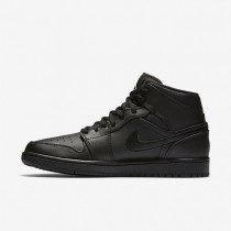 Air Jordan 1 Mid Mens Shoes Black/White Style: 554724-034