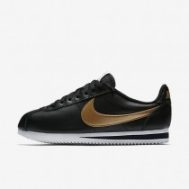 Nike Classic Cortez Womens Shoes Black/White/Metallic Gold Style: 807471-012