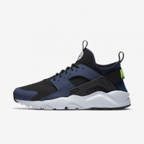 Nike Air Huarache Ultra Mens Shoes Midnight Navy/Black/Pure Platinum/Ghost Green Style: 819685-403