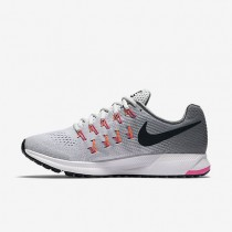 Nike Air Zoom Pegasus 33 Womens Shoes Pure Platinum/Cool Grey/Pink Blast/Black Style: 831356-006