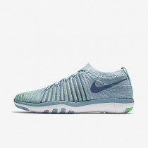 Nike Free Transform Flyknit Womens Shoes Mica Blue/Electro Green/Volt/Ocean Fog Style: 833410-403