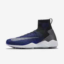 Nike Zoom Mercurial Flyknit Mens Shoes Deep Royal Blue/Black/Pure Platinum/Dark Grey Style: 844626-004
