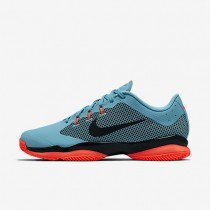 NikeCourt Air Zoom Ultra Clay Mens Shoes Polarised Blue/Hyper Orange/Black Style: 845008-400