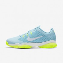 NikeCourt Air Zoom Ultra Clay Womens Shoes Still Blue/Polarised Blue/Volt/White Style: 845047-400