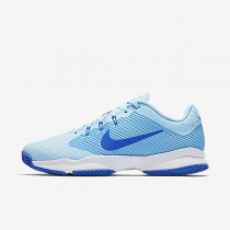 NikeCourt Air Zoom Ultra Clay Womens Shoes Ice Blue/University Blue/White/Comet Blue Style: 845047-401