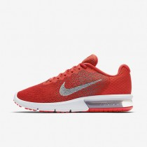 Nike Air Max Sequent 2 Mens Shoes Max Orange/Cool Grey/University Red/Metallic Cool Grey Style: 852461-800
