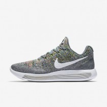 Nike LunarEpic Low Flyknit 2 Womens Shoes Cool Grey/Volt/Blue Glow/White Style: 863780-003