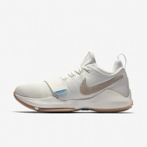 Nike PG1 Mens Shoes Ivory/Gum Light Brown/Vivid Sky/Oatmeal Style: 878627-110