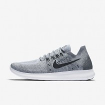 Nike Free RN Flyknit 2017 Womens Shoes Wolf Grey/Anthracite/Cool Grey/Black Style: 880844-002