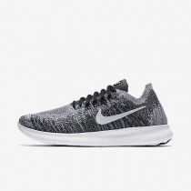 Nike Free RN Flyknit 2017 Womens Shoes Black/Volt/White Style: 880844-003
