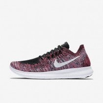 Nike Free RN Flyknit 2017 Womens Shoes Black/Racer Pink/Gamma Blue/White Style: 880844-006