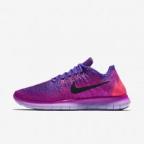 Nike Free RN Flyknit 2017 Womens Shoes Fire Pink/Hyper Grape/Racer Pink/Black Style: 880844-600