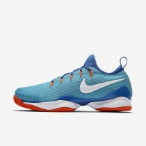 NikeCourt Air Zoom Ultra React Clay Mens Shoes Polarised Blue/Medium Blue/Hyper Orange/White Style: 881091-400