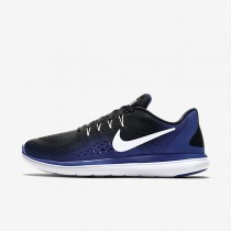Nike Flex 2017 RN Mens Shoes Black/Deep Royal Blue/White Style: 898457-004