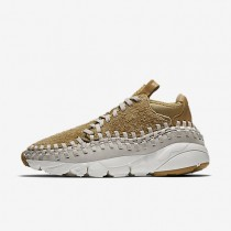 NikeLab Air Footscape Woven Chukka QS Mens Shoes Flat Gold/Summit White/Light Orewood Brown Style: 913929-700