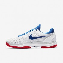 Nike Zoom Cage 3 Tennis Mens Shoes White/Pure Platinum/Action Red/Blue Jay Style: 918193-114