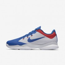 Nikecourt Air Zoom Ultra Tennis Mens Shoes White/Pure Platinum/Action Red/Blue Jay Style: 845007-114