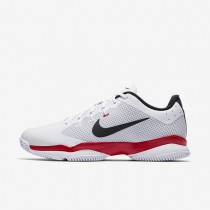 Nikecourt Air Zoom Ultra Tennis Mens Shoes White/University Red/Black Style: 845007-116