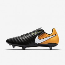 Nike Tiempo Legacy Iii Sg Soft-Ground Football Boot Mens Shoes Black/Laser Orange/Volt/White Style: 897798-008