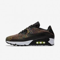 Nike Air Max 90 Ultra 2.0 Flyknit Mens Shoes Black/Paramount Blue/Volt/Bright Crimson Style: 875943-002