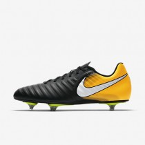 Nike Tiempo Rio Iv Sg Soft-Ground Football Boot Mens Shoes Black/Laser Orange/Volt/White Style: 897760-008