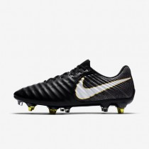 Nike Tiempo Legend Vii Anti-Clog Sg-Pro Soft-Ground Football Boot Mens Shoes Black/Black/White Style: 917805-002