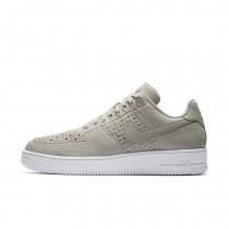 Nike Air Force 1 Flyknit Low Mens Shoes String/White/String Style: 817419-200