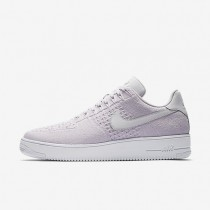 Nike Air Force 1 Flyknit Low Mens Shoes Light Violet/White/Light Violet Style: 817419-500