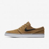 Nike Sb Zoom Stefan Janoski Skateboarding Mens Shoes Golden Beige/Black Style: 333824-215