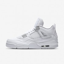 Air Jordan 4 Retro Mens Shoes White/Pure Platinum/White/Metallic Silver Style: 308497-100