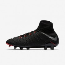 Nike Hypervenom Phantom 3 DF FG Mens Shoes Black/Black/Anthracite/Metallic Silver Style: 860643-001