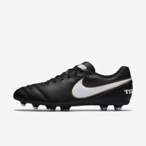 Nike Tiempo III FG Mens Shoes Black/White Style: 819233-010