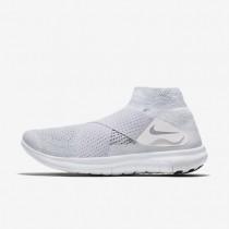 Nike Free RN Motion Flyknit 2017 Mens Shoes White/Pure Platinum/Volt/Wolf Grey Style: 880845-100