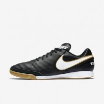 Nike Tiempo Genio II Leather IC Mens Shoes Black/White Style: 819215-010